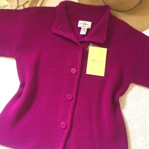 NWT Linea by Louis Dell'Olio Raspberry Sweater